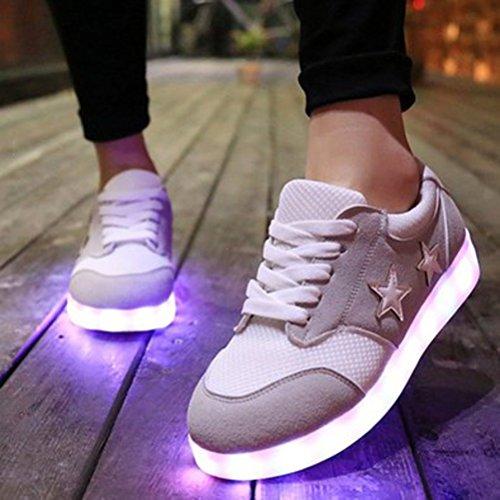 (Présents:petite serviette)JUNGLEST® Unisexe Femmes Hommes USB Charge Chaussures Gris