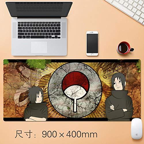 Mauspad Super Großes mouspad Süße Anime Spiel Schloss Dickere Mauspad Gaming xxl Anpassung der Karte-Uchiha Brothers 49_900x400mm_3mm -