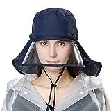SiggiHat Rollbarer Regenhut Damen Wasserdicht Accessoires mit Kinnband Schwarzblau SIGGI