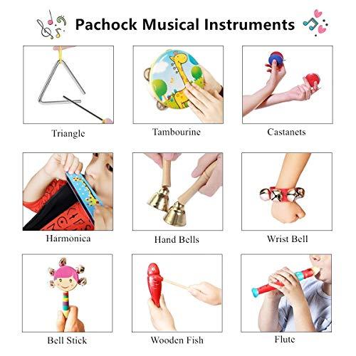 Pachock 23PCS Instrument de Musique pour Enfant, Les Enfants d'âge Préscolaire et Les Bébés Instruments de Percussion en Bois et Instruments avec Sac de Transport Img 3 Zoom