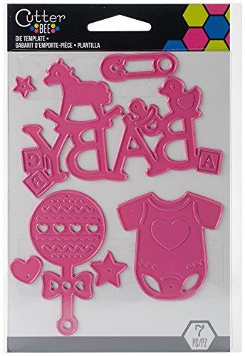 Unbekannt EK Success Baby Sterben Vorlage, Metall, pink, 14x 9,5x 0,1cm