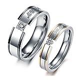 Bishiling Paarepreis Edelstahl Ringe Paare Männer Frauen mit Gravur