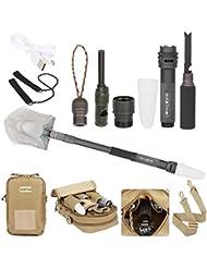 Dazone® Multifuncional compacto Camping Pala plegable supervivencia kit-outdoor Kombat Herramientas para Conducción, acampada, pesca, herramienta de supervivencia de Sapper