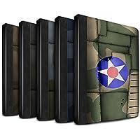STUFF4 PU Pelle Custodia/Cover/Caso Libro per Apple iPad Pro 9.7 tablet / 6pcs confezione / Aereo caccia Ala