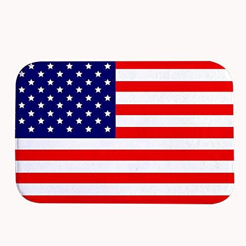 Rioengnakg bandiera americana super assorbente tappetino antiscivolo in pile corallo tappeto zerbino d' ingresso tappeto tappetini per anteriore esterno porte, 16