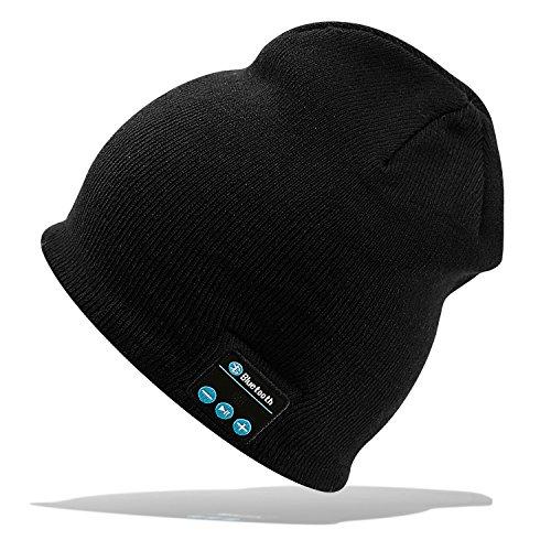 Zuerst Reinigen Kit (Bluetooth-Mütze Stereo-Kopfhörer 4,2 Wireless Knit Beanie geeignet für Outdoor-Sport Weihnachtsgeschenke schwarz und grau (schwarz))