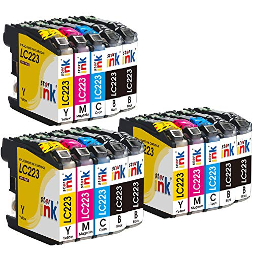 Starink 15 Pack Kompatibel für Brother LC-223 LC223 XL Tintenpatronen für Brother DCP-J562DW DCP-J4120DW MFC-J4420DW MFC-J4620DW MFC-J4625DW MFC J5320DW J5620DW J5625DW J5720DW J480DW J680DW 880DW