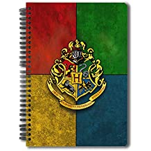 MC SIDD RAZZ Official Harry Potter Hogwarts House Crest 150-Page Notebook, A5 Size