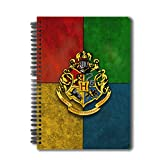 "Mc Sidd Razz Official ""Harry Potter""- Hogwarts House Crest - 3 Notebook , Licensed By Warner Bros, USA"