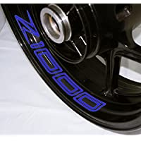 EUFBA Kawasaki Z1000 2014 Motorradfelge Aufkleber Aufkleber Streifen Refletive Blue