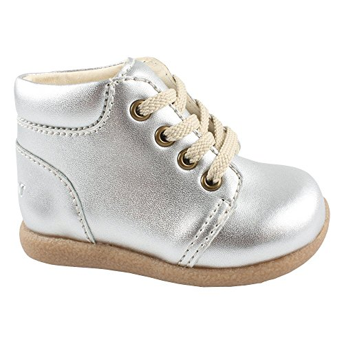 EN FANT Beginner Shoe Lace, Chaussures Bateau Fille Argent - Silber (Silver 01)