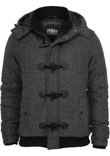 URBAN CLASSICS-Giacca invernale TB577 Men's nero/grigio XXL