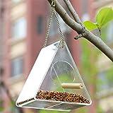 Singa-z Mangiatoia per Uccelli Mangiatoia per Uccelli Alimentatore di pappagalli in Acrilico Anti-dispersione con Supporto