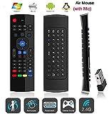 zenzecomm MX3Fly Air Maus Cursor [Stimme Eingang] Multifunktions 2,4GHz Mini Wireless Tastatur [3-gyro, 3-gsensor] Infrarot Learning Fernbedienung für Android TV Box LG Samsung Google Smart TV