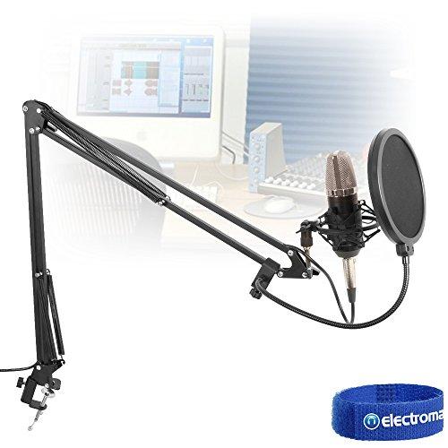 Vonyx Studio Set Großmembran Mikrofon inkl. Tischarm, Spinne, Windschutz, Kabel