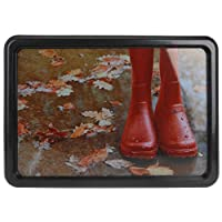 Boots Design 55x39cm Multifunctional Shoes Wellies Pots Paint Tins Plastic Tray