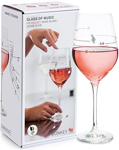 Donkey Products - Glass of Music   Cooles Weinglas mit Tonleiter - bringt dein Glas zum singen -...
