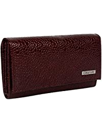 CREATURE Stylish Women's Clutch With Multiple Zipper and Card Slots (Color-Maroon || CL-01)