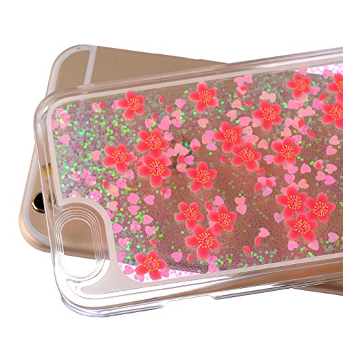 iPhone 6S Hülle,iPhone 6 Hülle,iPhone 6S Case,EMAXELERS Christmas Series Hard PC Case Phone Holster Transparent Handy-Tasche Hülle Cute Santa Claus Muster Glitter Flowing Bling Hülle Etui Schale Case  Christmas Series 1