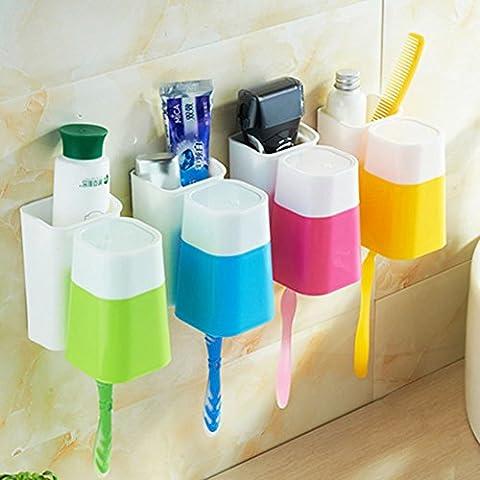 Potente aspirazione supporto a parete spazzolino da denti/ dentale/Snap polvere vestito di lavaggio della tazza