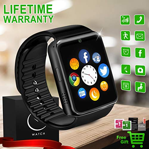Smartwatch Android, Bluetooth Smart Watch con Camera SIM TF Card...