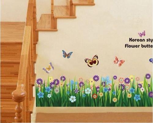 adesivi-da-parete-art-fiori-recinzione-prato-farfalla-adesivi-da-parete