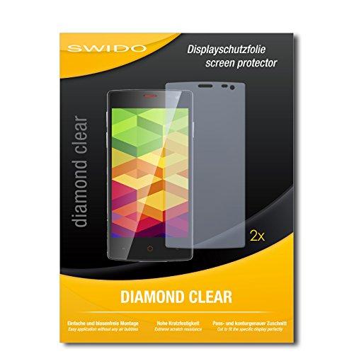 SWIDO 2 x Bildschirmschutzfolie Ulefone Be X Schutzfolie Folie DiamondClear unsichtbar