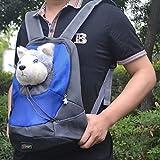 Tping-Pet-Backpack-Bag-Carrier-Sac-de-Chien-Transport-Sac--dos-Poitrine-Engrener-Sac-Petit-Chiens-Chats-Voyage--dos-en-Plein-Air-pour-Dog-Cat-Puppy-Animaux-Head-Out-Bleu-M403517cm