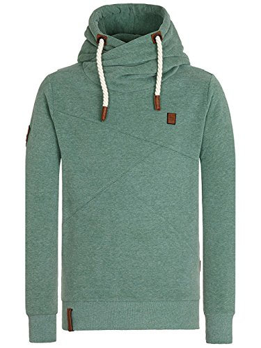 Naketano Male Hoody Lennox IX leaf green melange