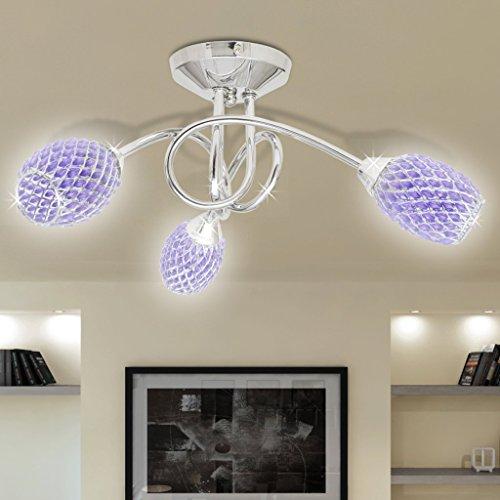 lustre-lampe-de-plafond-violet-3-abats-jours-en-cristal-ampoules-g9