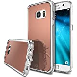 Coque Galaxy S7, Ringke [Fusion Mirror] Effacer PC Retour TPU Bumper [Goutte Protection / Choc de la technologie d'absorption] [Attaché Dust Cap] Pour Samsung Galaxy S7 - Rose Gold
