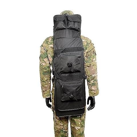 Outdoor militaire tactique chasse Étui souple étui pour fusil sac à dos en nylon, noir