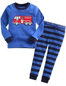 Vaenait baby 74-122 Saeugling Kinder Jungen Unisex Bekleidung Langarm zweiteilig Schlafanzug Auto Dinosaurier...