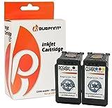 Bubprint 2 Druckerpatronen kompatibel für Canon PG 545 XL 545XL CL 546 546XL für Pixma IP2850 MG2450 MG2550 MG2950 MG3050 MG3051 MX490 MX495 Multipack