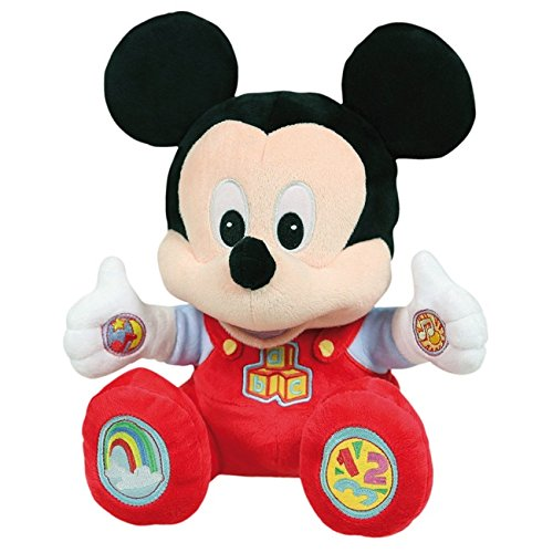 26cm Disney Baby Mickey Mouse Talking Plush by Clementoni (Mickey Maus Plushs)