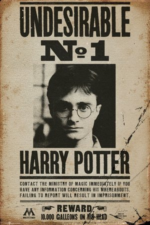 Póster Harry Potter - Undesirable No 1 - cartel económico, póster XXL