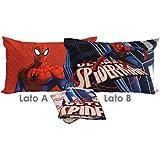 Bassetti Spiderman 17Azul completo sábanas Cama Individual cm. 160x 280