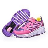 Wheely's Baskets avec roulettes automatiques pour Enfants - Perméable à l'air - Rose - Taille 34