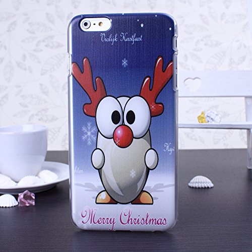 New Christmas Santa Series Snowman Deer Design Kunststoff Hard Case (Weihnachtsgeschenk) für IPhone 6S 6 ( Color : 9 , Size : IPhone 6S 6 ) 5