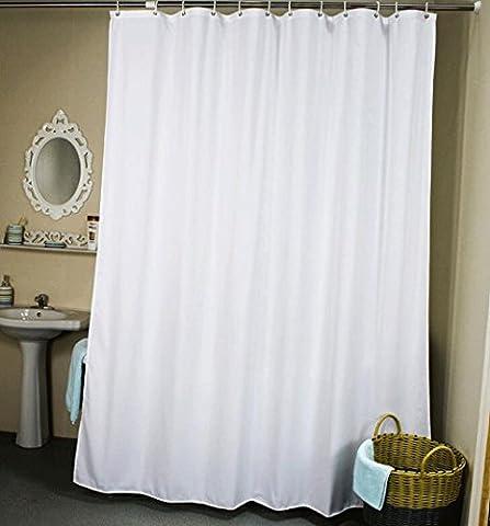 TXXM Blanc imperméable à l'eau mousseline Salle de bains Rideaux rideaux suspendus Rideau de douche ( taille : 80*200cm )