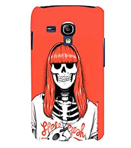 TOUCHNER (TN) Lady Skeleton Back Case Cover for Samsung Galaxy S3 Mini::Samsung Galaxy S3 Mini i8190