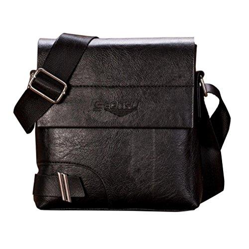 Off Borsa a Tracolla,Kword Uomo Vintage Business Borsetta Dual-Use Borsa e Tote Flap Bag C