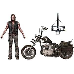 The Walking Dead Série TV / Daryl Dixon Action Figure 5 pouces avec boîte de luxe chopper réglages de la moto