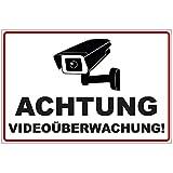 Schild Achtung Videoüberwachung aus Alu / Dibond 300x200 mm - 3 mm stark