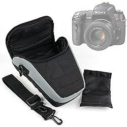Housse étui de transport pour appareil photo Bridge Sony DSC-HX60, HX400V, NEX-5T et RX100 II / DSC-RX100M2 et leurs accessoires + bandoulière BONUS, par DURAGADGET