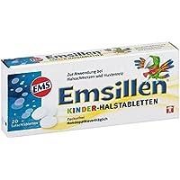 Emsillen Kinder Halstabletten mit Natürlichem Emser Salz – Bei Halsschmerzen und Hustenreiz – 20 Stück preisvergleich bei billige-tabletten.eu