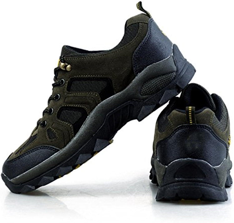Hombres Respirable Cómodo Zapatos Para Caminar Al Aire Libre De Varios Tamaños Multicolor,Green-36