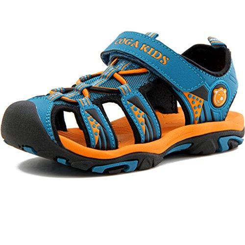 Eagsouni® Kinder Geschlossene Sandalen Outdoor Sport Trekkingsandalen Klettschuhe für Jungen Mädchen Dunkelblau