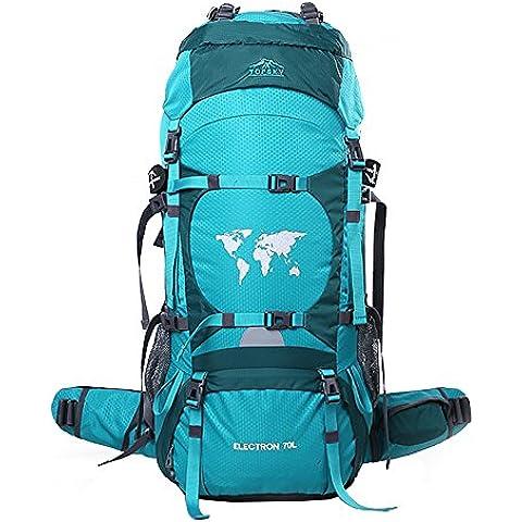 Topsky® 70L sport esterni rampicanti d'escursione impermeabile Grande zaino di