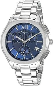 Salvatore Ferragamo Men's Analogue Swiss-Quartz Watch with Stainless-Steel Strap FLF93